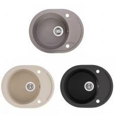 """Полимерна гранитна кухненска мивка """"DAFNE"""", 47x58x19 см."""