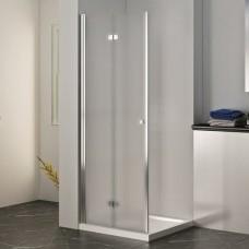 Универсална сгъваема врата мат ХЕЛЕН, 80-120х200 см., хром
