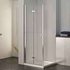 Универсална прозрачна сгъваема врата ХЕЛЕН, 70-120х200 см., хром