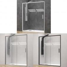 """Преграден душ параван с плъзгаща врата """"ЕFE 400"""", прозрачно стъкло, 100-150х190 см."""