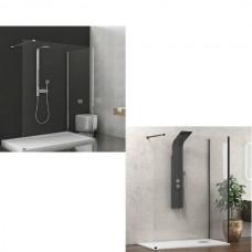 """Параван за баня """"WALKIN 4 """", 8 мм. закалено стъкло, 70-90х90-150х200 см."""