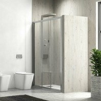 """Душ параван с плъзгащи врати """"Penta 300"""", прозрачно стъкло, 90-160х190 см., хром"""
