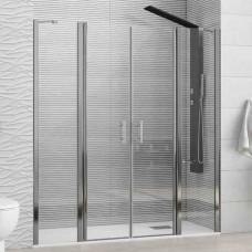 """Преграден душ параван """"PANEX 700"""", 6 мм. прозрачно стъкло, 135-175х190 см., хром"""