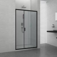 """Преграден душ параван с плъзгаща врата """"ELITЕ Black"""", 100-120х195 см., черен"""