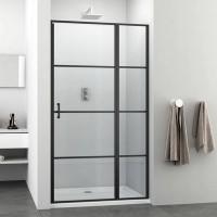 "Oтваряема врата и стационарно стъкло ""ELITE-К Black"", 100-120x195 см., черно"
