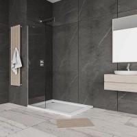 """Стационарен душ параван за баня мат """"WALK IN"""", 40-90x190 см., 6 мм. стъкло"""