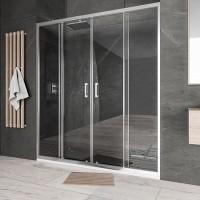 "Преграден душ параван с две врати ""Bella W2"", 150-180x195 см., хром"