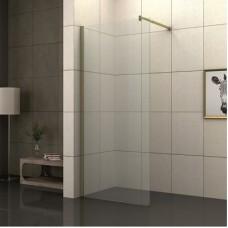 Параван за баня САХАРА, прозрачен-злато, 80-90х200 см.