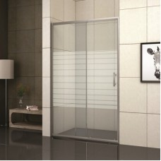 Преграден душ параван с рисувано стъкло, 100-180х190 см.