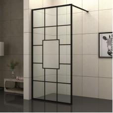 Параван за баня БЛЕЙК, в черно, 70-100х200 см.