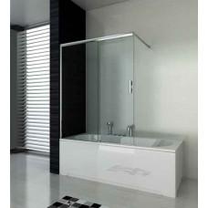 Параван за вана с плъзгане, прозрачно стъкло, 120х140 см.