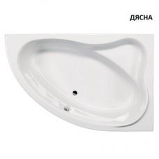"Асиметрична акрилна вана ""RAB - KRK"", 150x98x40 см."