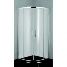 """Овална душ кабина прозрачнo стъкло """"PRЕMIUM LINE"""", хром"""