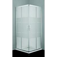 "Врата и стационарно стъкло за душ кабина ""PRO-LINE"", матови ленти"