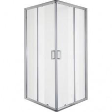 """Квадратна душ кабина прозрачно стъкло """"SQUARE"""", хром"""