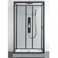 "Хидромасажна душ кабина ""SKY 3"", черен-мат, 80х120х225 см."