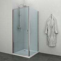 """Квадратна душ кабина """"ELITА"""", прозрачна, хром"""
