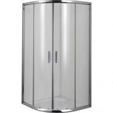 """Овална душ кабина прозрачно стъкло """"ROUND"""", хром"""