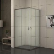 """Квадратна душ кабина прозрачно стъкло """"EASY ASSEMBLE"""", хром"""