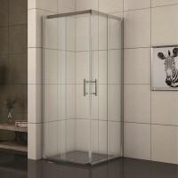 Квадратна душ кабина 78-90х78-90х190 см., хром