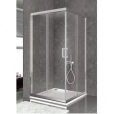 Врата и стационарно стъкло за душ кабина BELLA S, хром