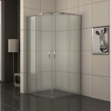 """Овална душ кабина прозрачно стъкло """"EASY ASSEMBLE"""", хром"""